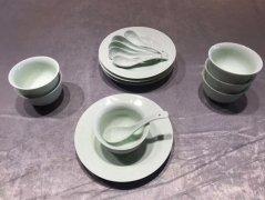 玉青汝瓷餐具
